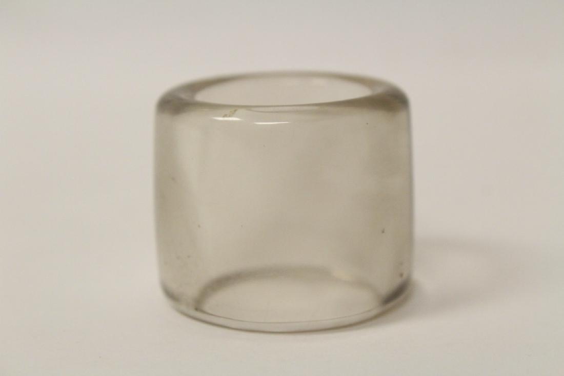 Peking glass archer's ring - 7