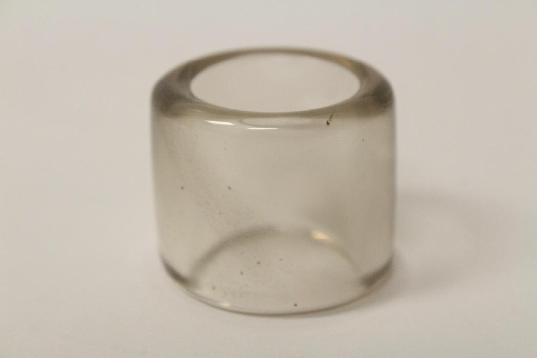 Peking glass archer's ring - 9
