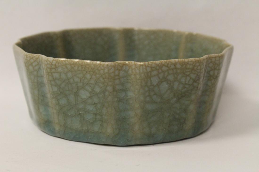 Song style celadon basin - 3