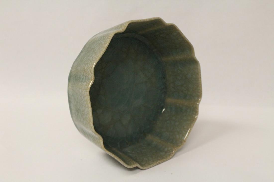 Song style celadon basin - 9