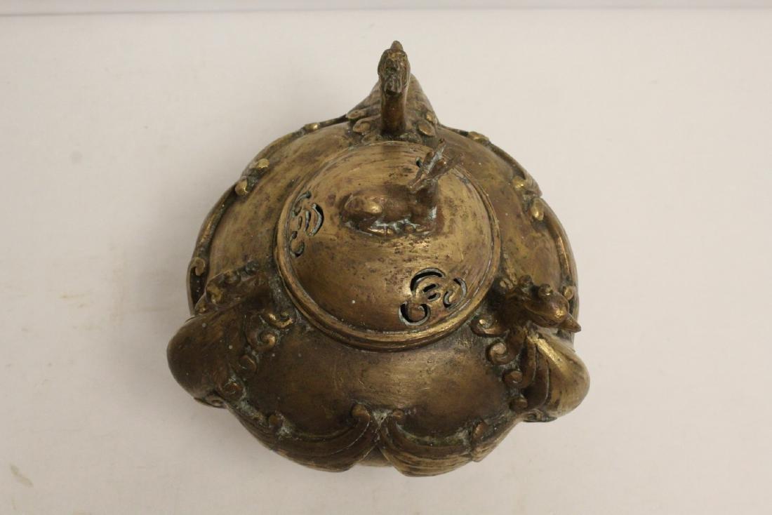 A bronze censer with phoenix motif legs - 7