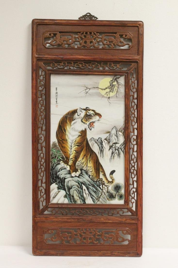 Framed porcelain plaque