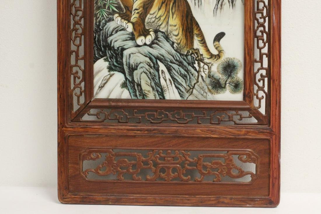 Framed porcelain plaque - 4
