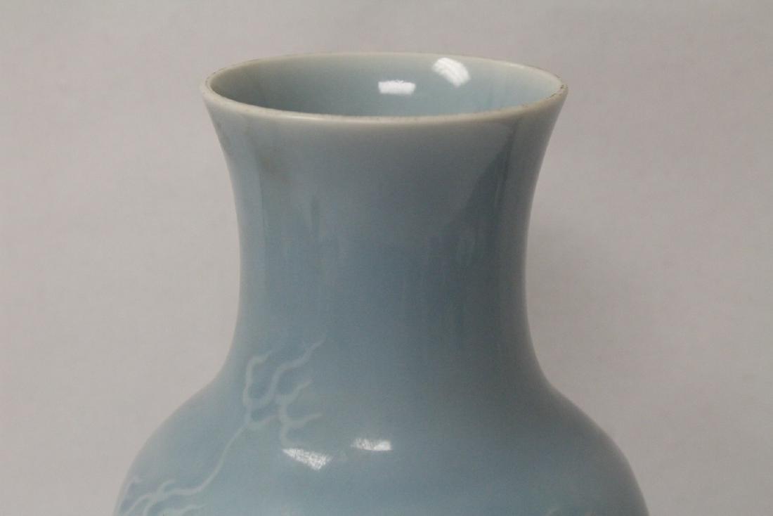 Sky blue porcelain vase - 5