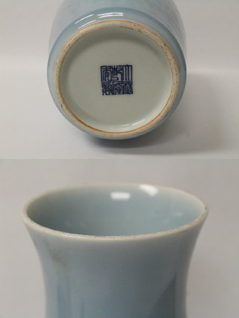 Sky blue porcelain vase - 9
