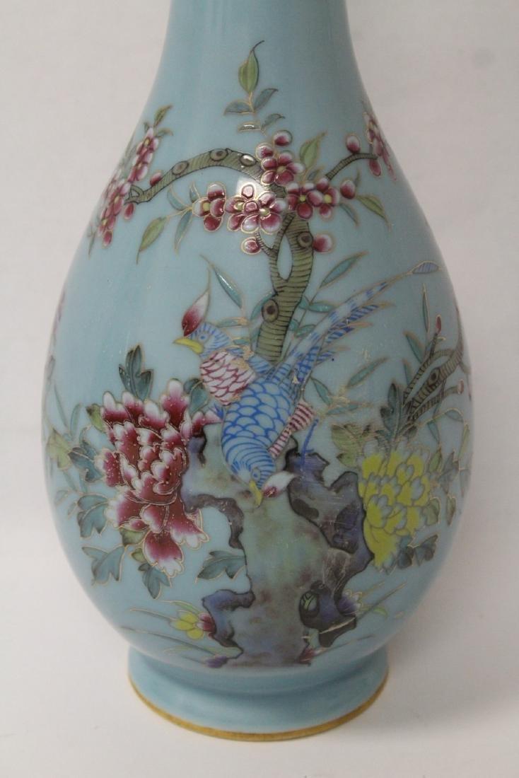 Pair famille rose porcelain vases - 6