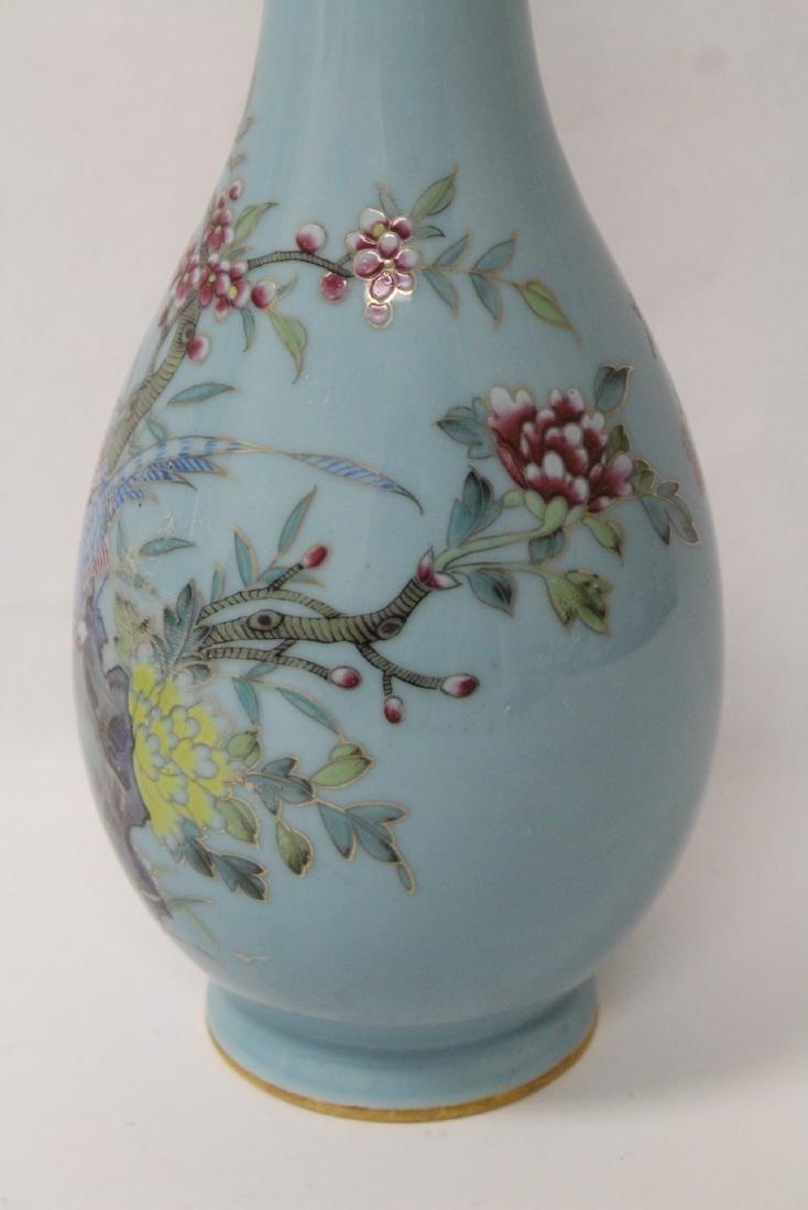 Pair famille rose porcelain vases - 8