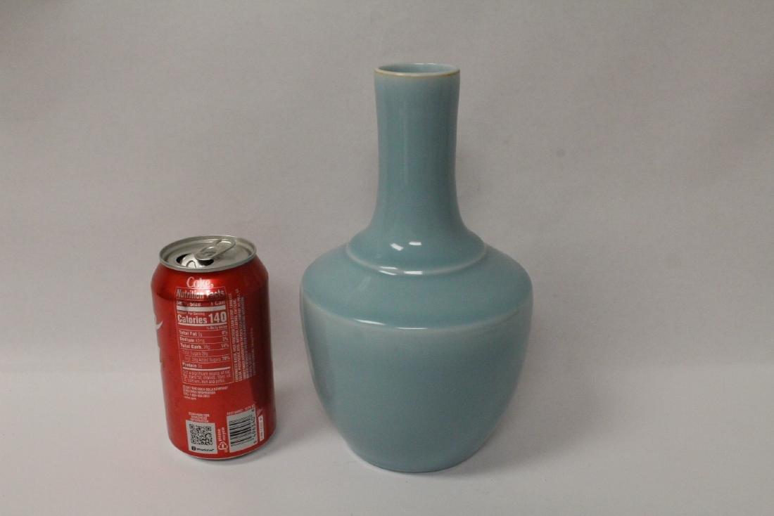 Sky blue porcelain bottle vase - 2