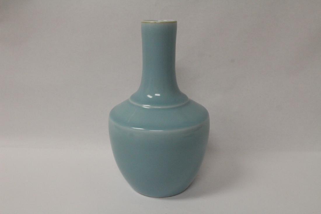 Sky blue porcelain bottle vase - 3