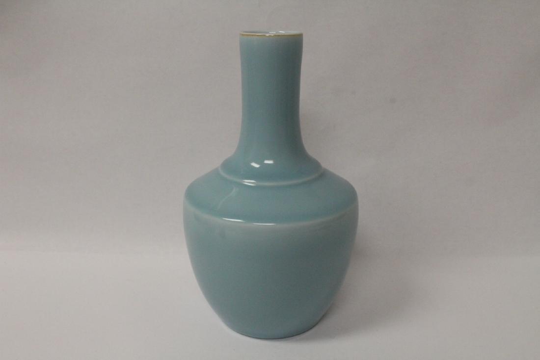 Sky blue porcelain bottle vase - 4