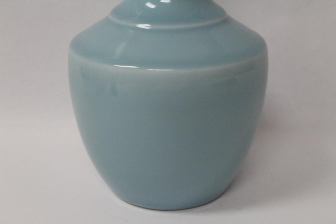 Sky blue porcelain bottle vase - 5