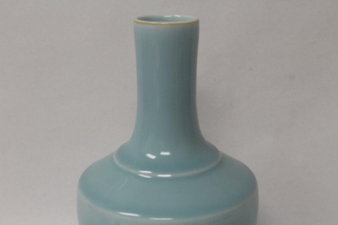 Sky blue porcelain bottle vase - 6