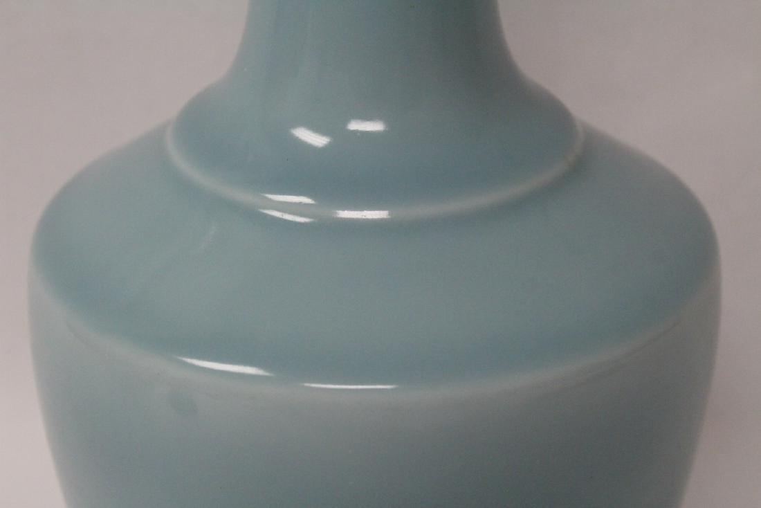 Sky blue porcelain bottle vase - 8