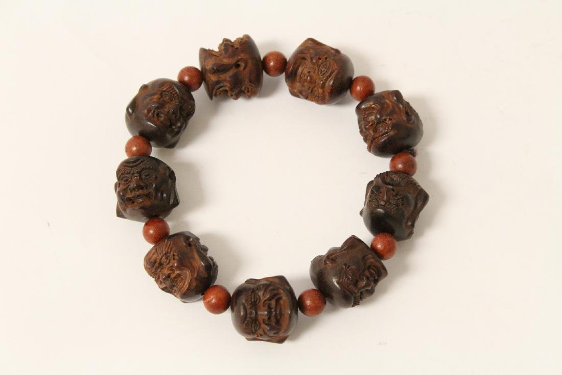 huali wood bracelet & a zitan wood bead bracelet - 2
