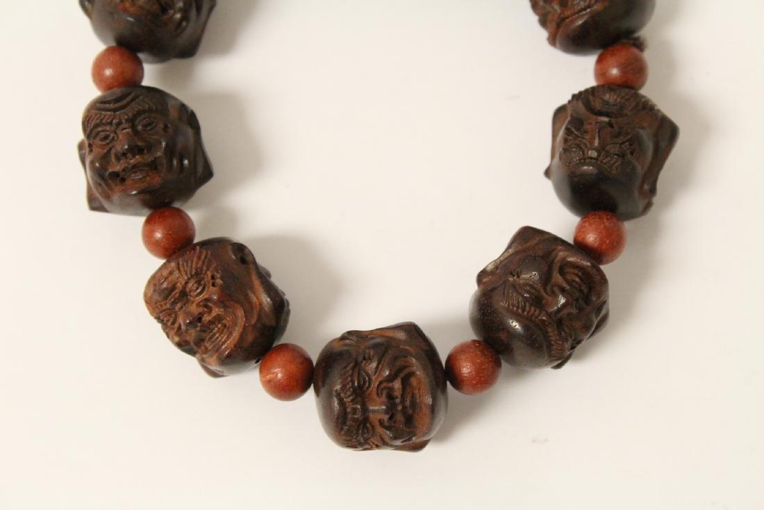 huali wood bracelet & a zitan wood bead bracelet - 3