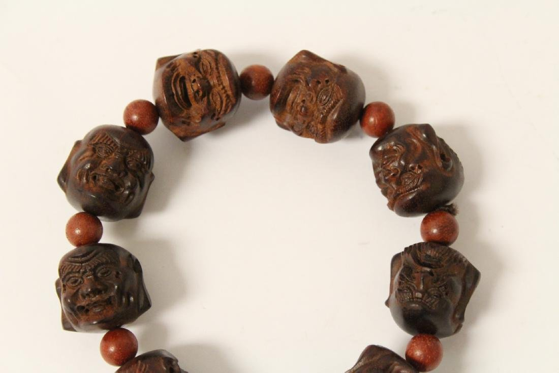 huali wood bracelet & a zitan wood bead bracelet - 4