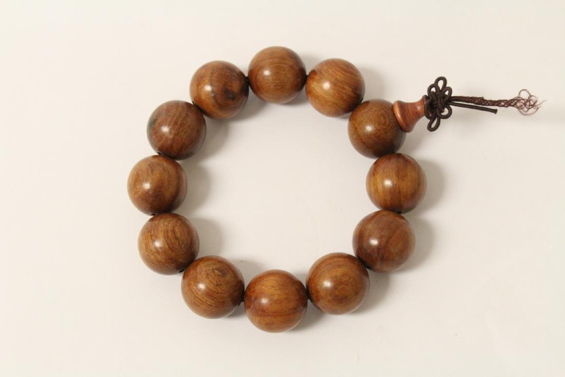huali wood bracelet & a zitan wood bead bracelet - 7
