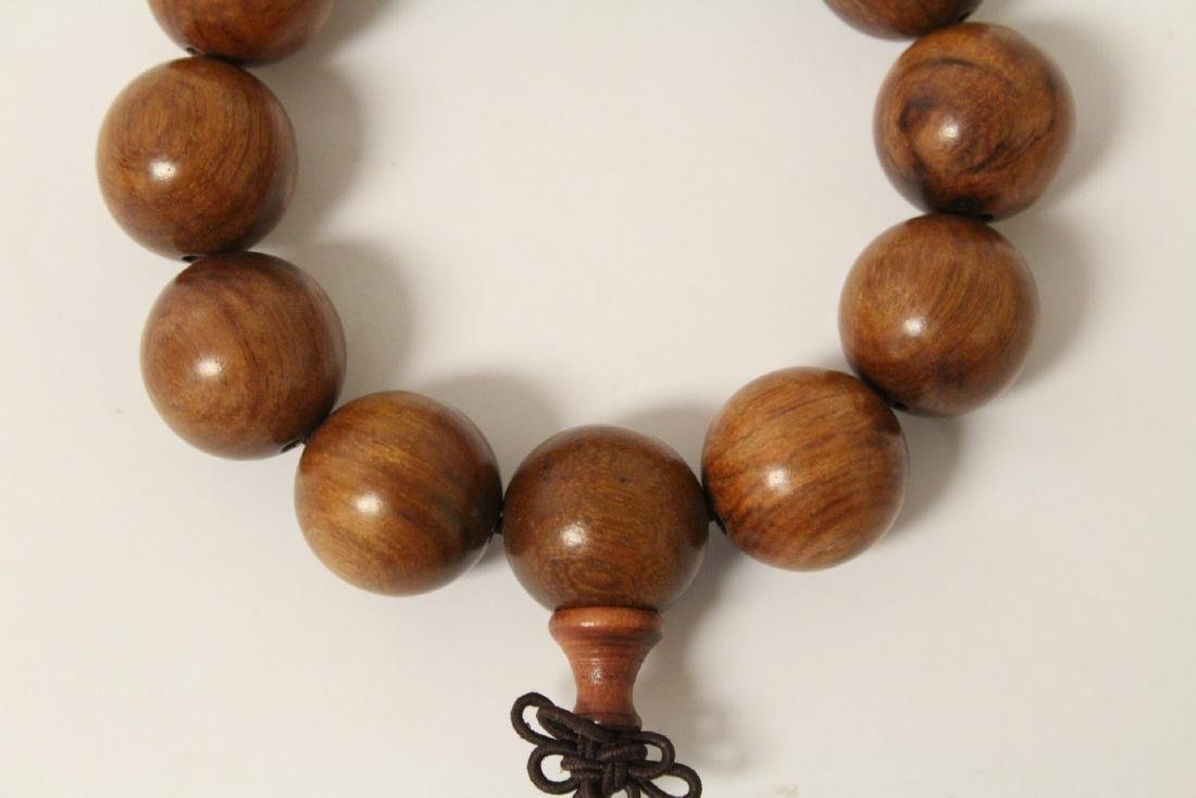 huali wood bracelet & a zitan wood bead bracelet - 8