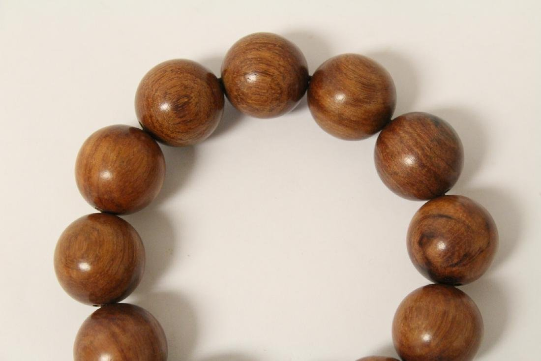 huali wood bracelet & a zitan wood bead bracelet - 9