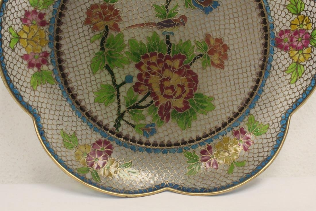 Chinese clear cloisonne plate - 5
