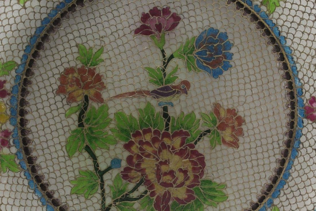 Chinese clear cloisonne plate - 6