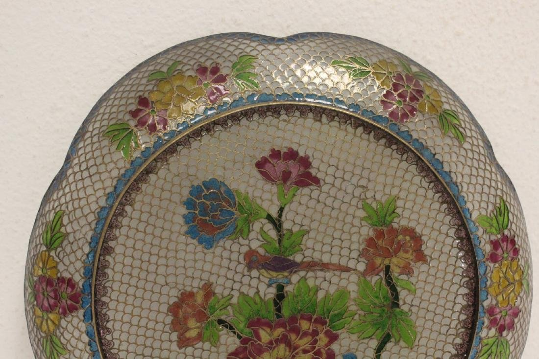 Chinese clear cloisonne plate - 8