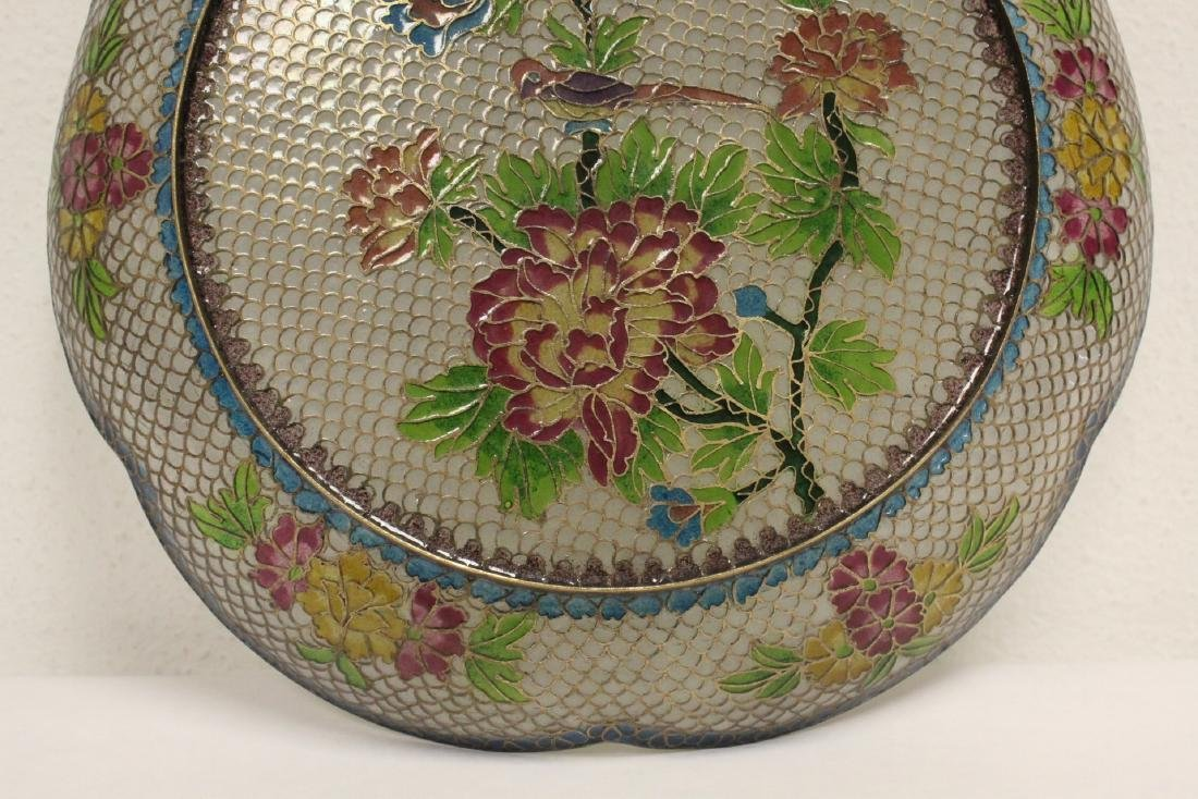 Chinese clear cloisonne plate - 9