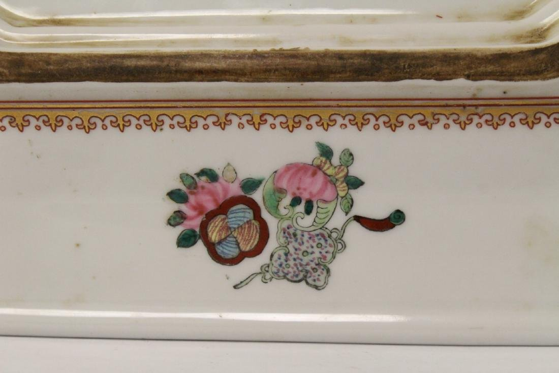 Chinese rose canton plate - 10