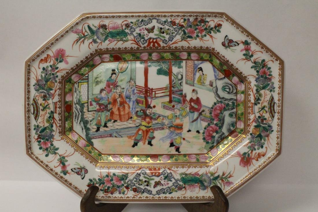 Chinese rose canton plate - 3