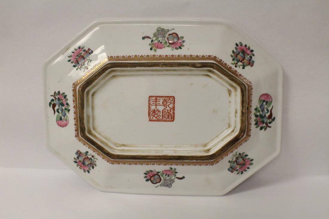 Chinese rose canton plate - 8