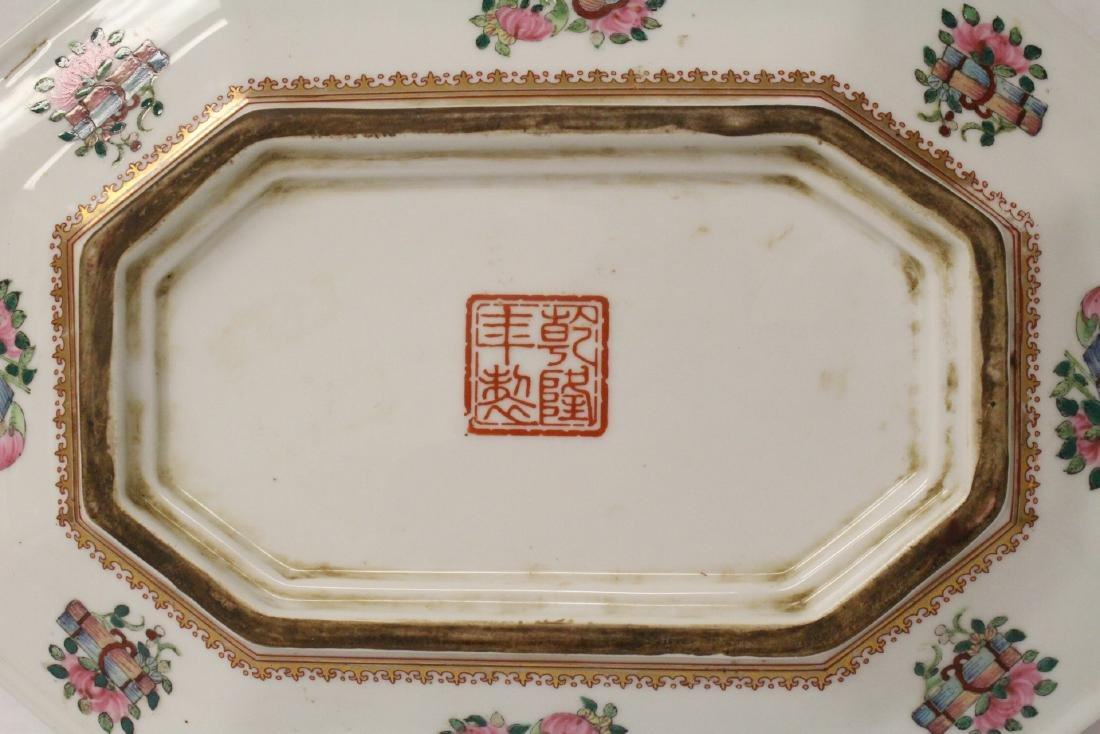 Chinese rose canton plate - 9