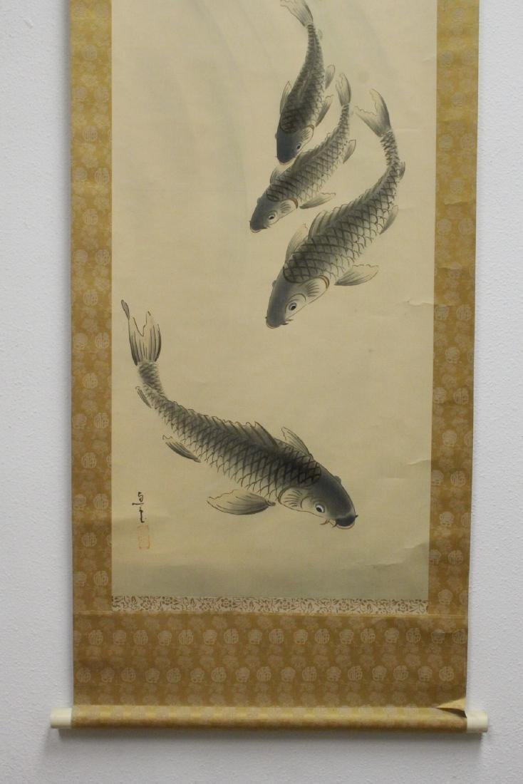 """Chinese watercolor scroll """"goldfish"""" - 4"""