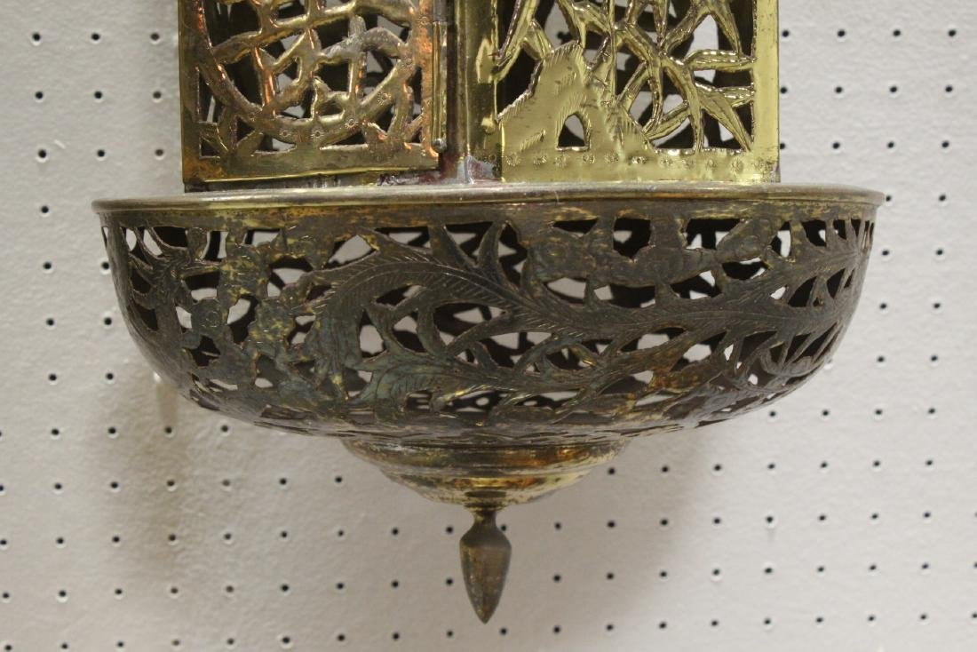 2 Chinese brass ceiling lamps - 9