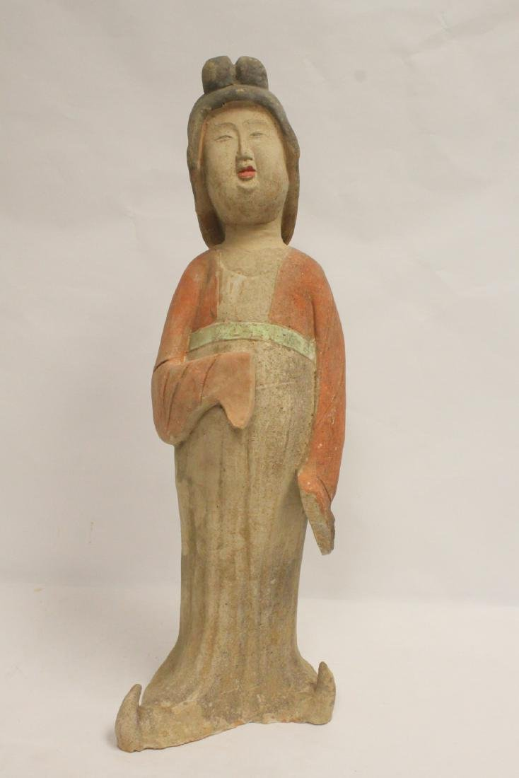 Chinese sancai style pottery figure