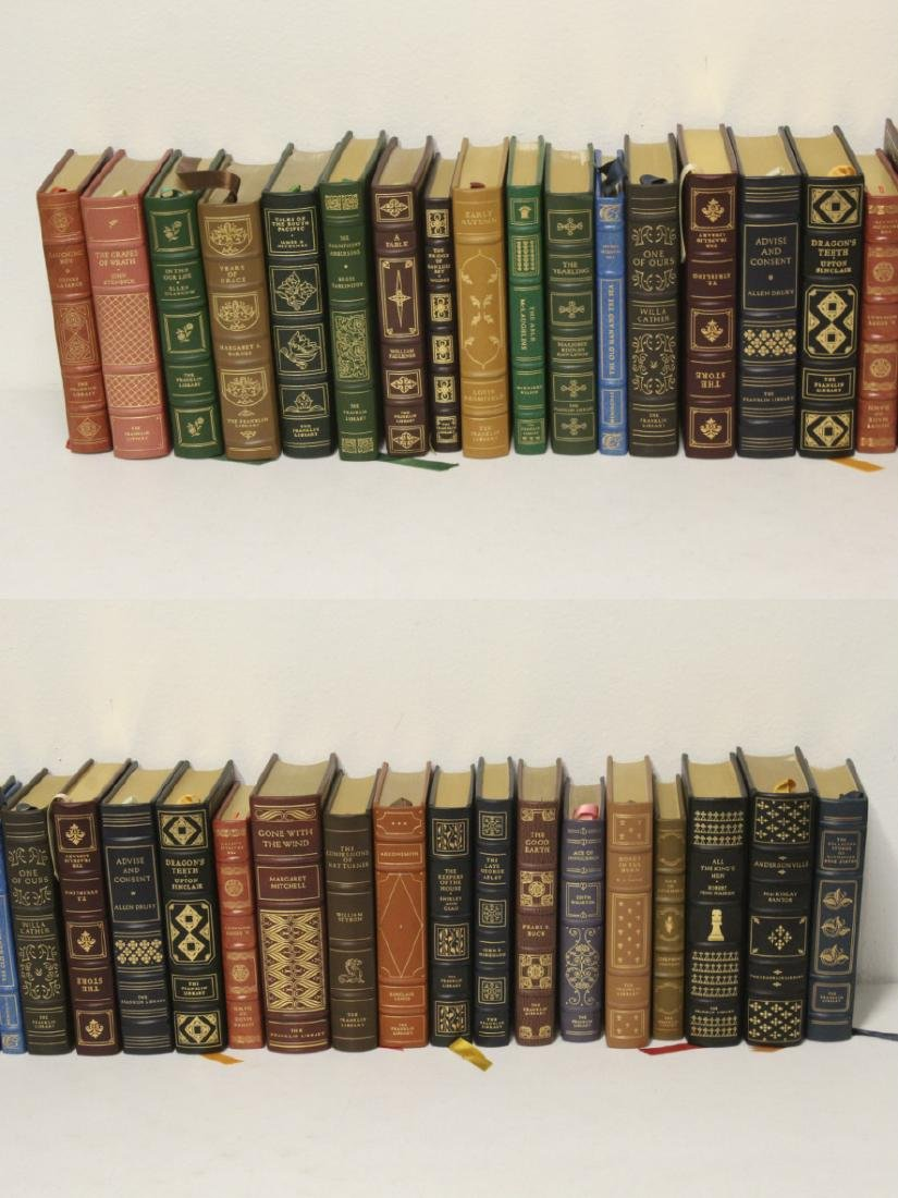 29 leather bond books - 2