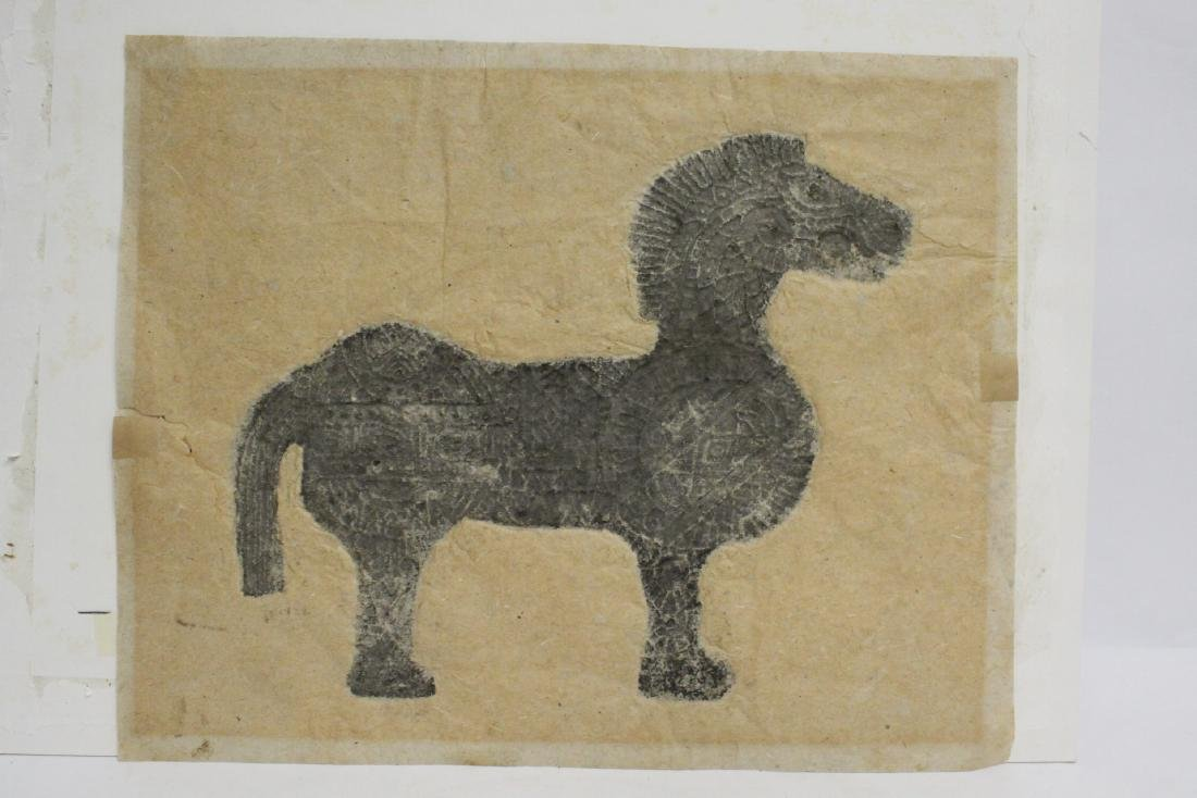 """Chinese ink on embossed paper painting """"horse"""" - 10"""
