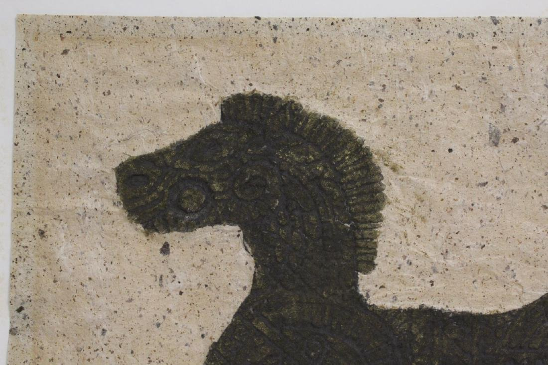 """Chinese ink on embossed paper painting """"horse"""" - 2"""
