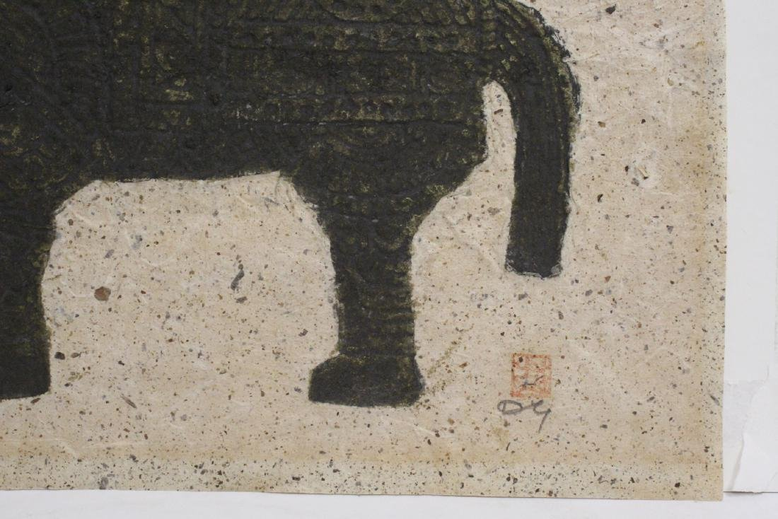 """Chinese ink on embossed paper painting """"horse"""" - 5"""
