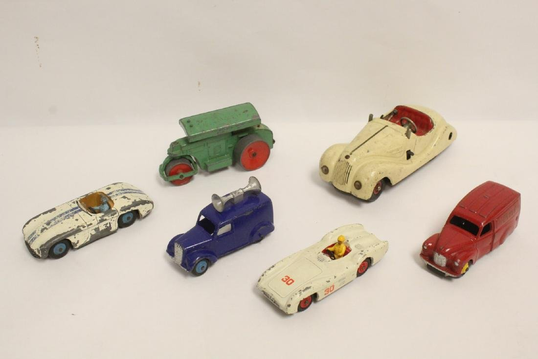 6 vintage toy cars