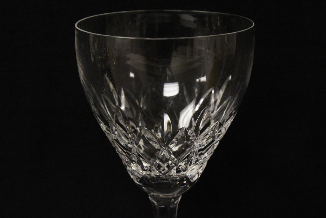 8 Val St. Lambert goblets, and 2 Waterford crystal jars - 4