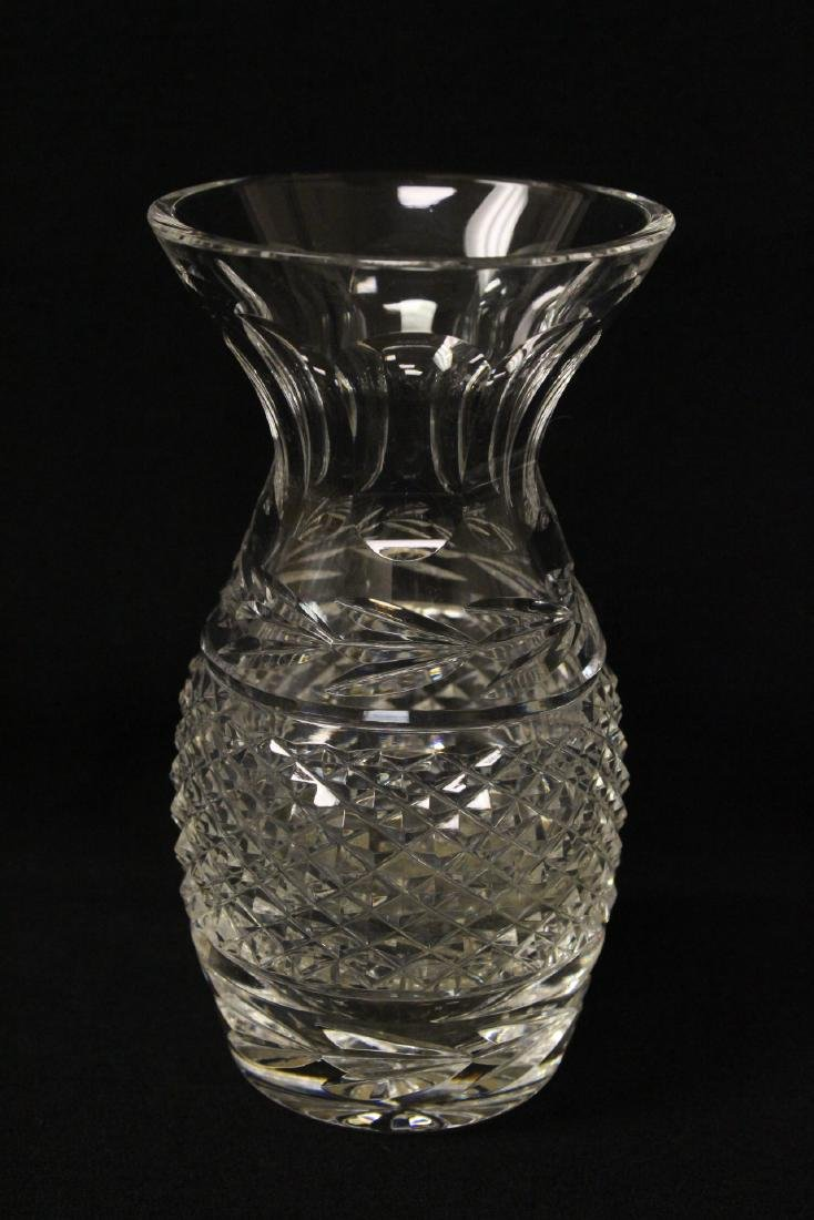 8 Val St. Lambert goblets, and 2 Waterford crystal jars - 6