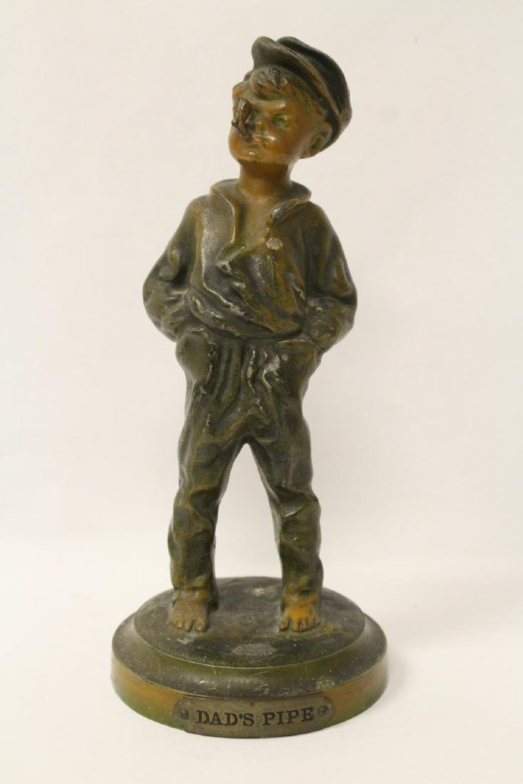 """Amusing antique bronze sculpture """"dad's pipe"""""""