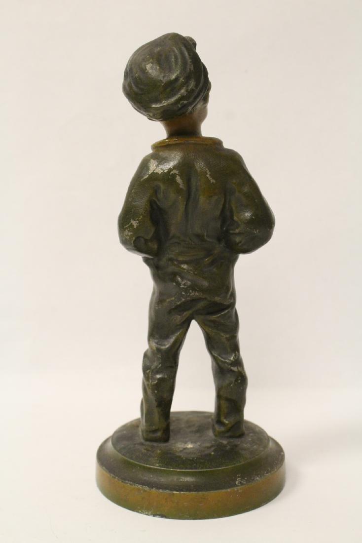 """Amusing antique bronze sculpture """"dad's pipe"""" - 3"""
