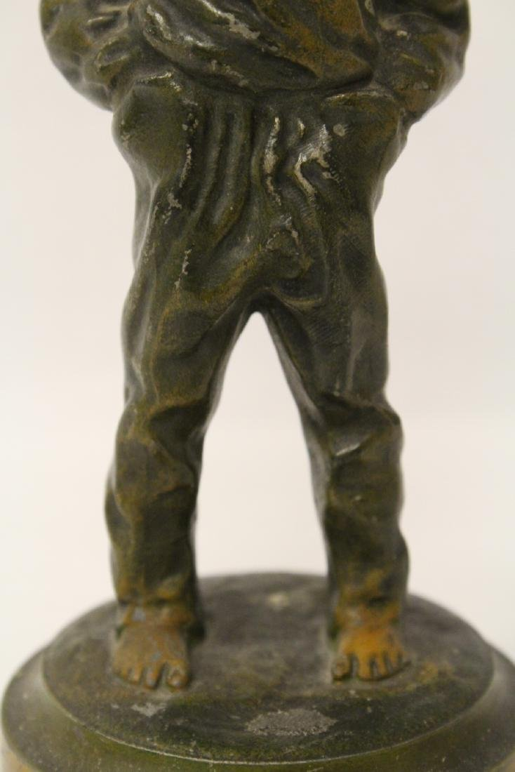"""Amusing antique bronze sculpture """"dad's pipe"""" - 7"""