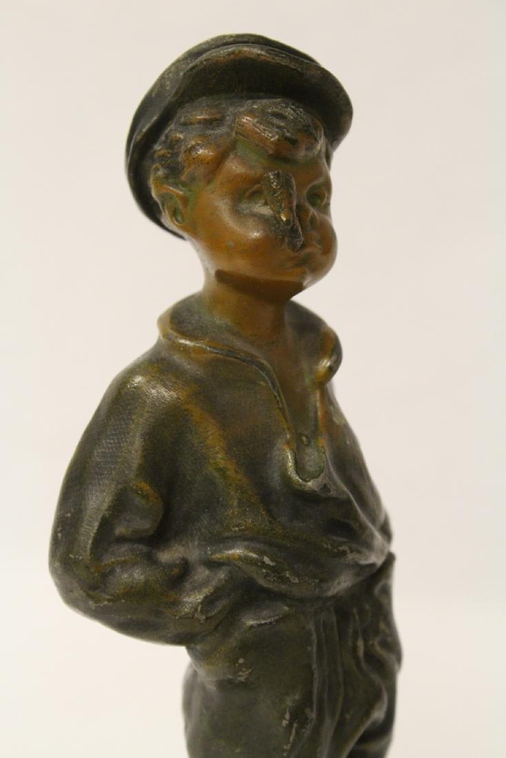 """Amusing antique bronze sculpture """"dad's pipe"""" - 8"""