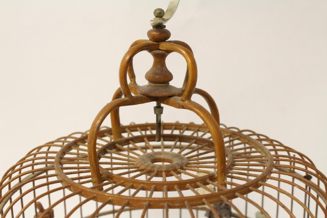 Chinese bamboo bird cage - 9