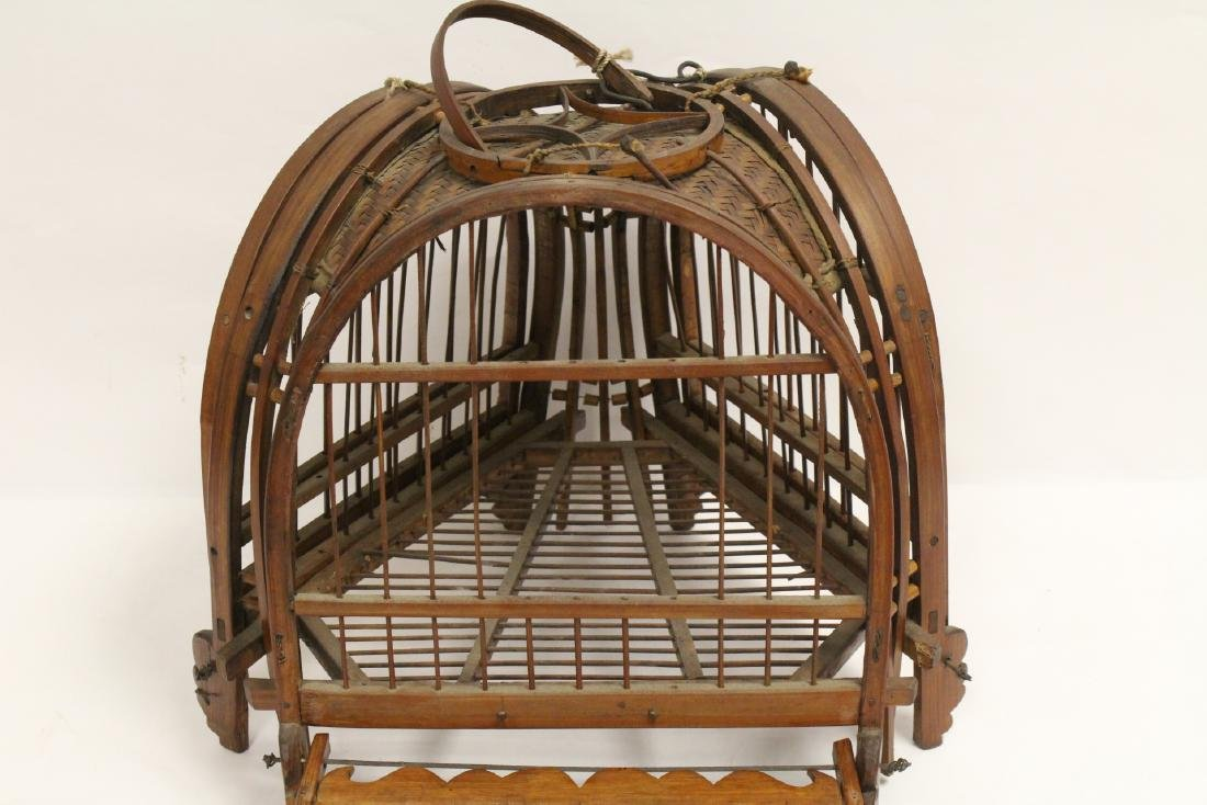A very unusual Chinese antique bird cage - 10