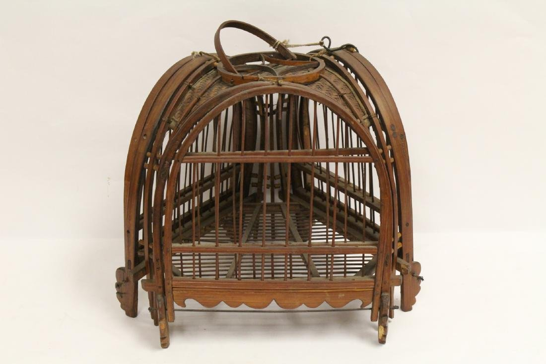 A very unusual Chinese antique bird cage