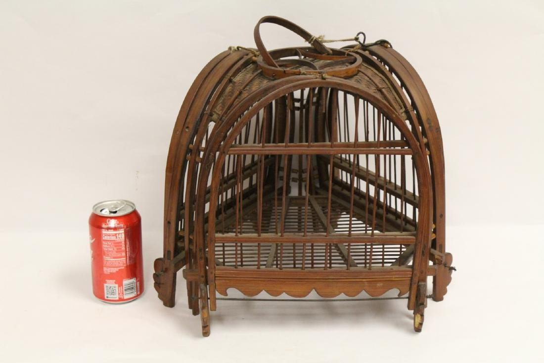 A very unusual Chinese antique bird cage - 2