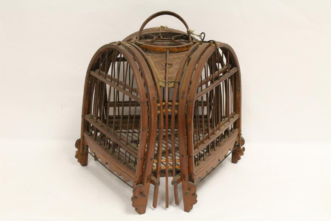 A very unusual Chinese antique bird cage - 3